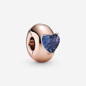 charm solitaire coeur bleu