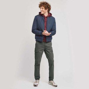 pantalon cargo slim kaki 01
