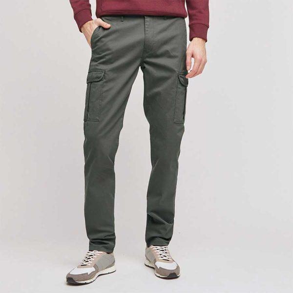 pantalon cargo slim kaki 03