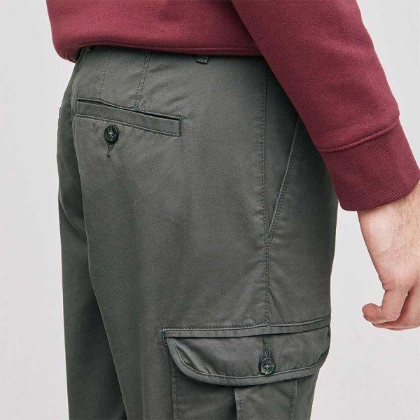 pantalon cargo slim kaki 04