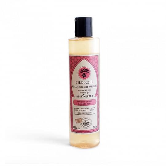 gel douche au savon d alep parfume rose de damas