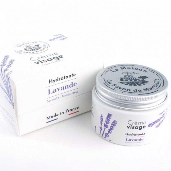 Crème visage à la lavande fabriquée en France