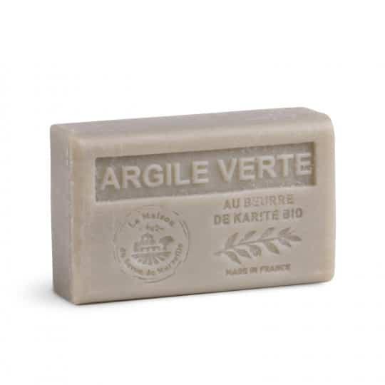 savon 125gr au beurre de karite bio argile verte