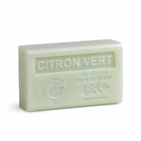 savon 125gr au beurre de karite bio citron vert