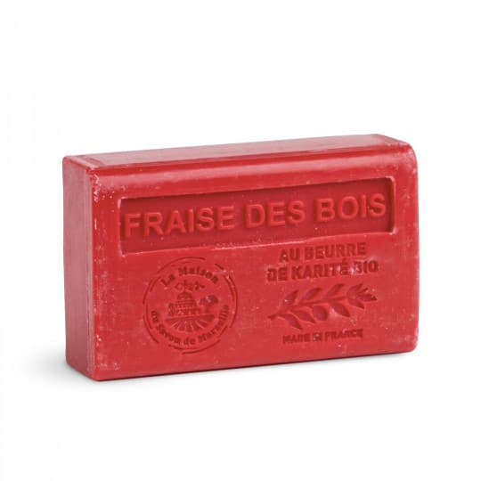 savon 125gr au beurre de karite bio fraise des bois