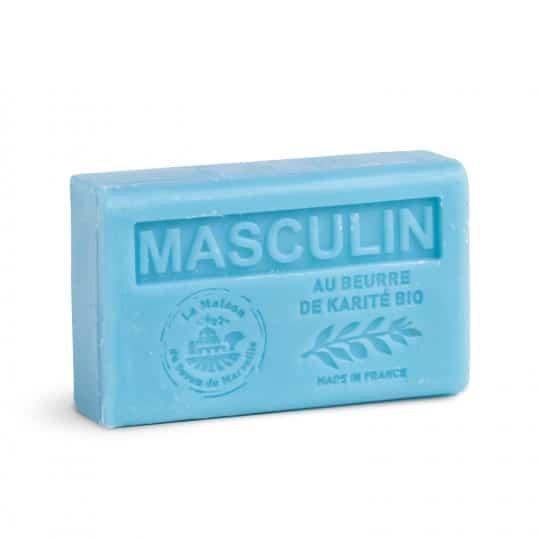 savon 125gr au beurre de karite bio masculin